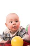 Мальчик с воздушным шаром Стоковые Фотографии RF