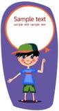 Мальчик с воздушным шаром Стоковое Фото