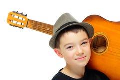 Мальчик с гитарой Стоковые Фотографии RF