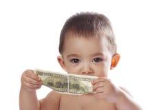 Мальчик с деньгами Стоковое Изображение