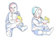 Мальчик с игрушкой иллюстрация вектора