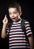 Мальчик с идеей Стоковые Изображения RF