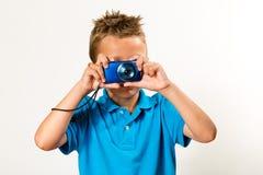 Мальчик с камерой Стоковое Изображение