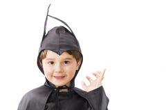 Мальчик с костюмом масленицы. Стоковое Фото