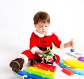 Мальчик с костюмом Санты Стоковое Изображение RF