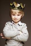 Мальчик с кроной стоковые фотографии rf