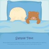 Мальчик с плюшевым медвежонком Бесплатная Иллюстрация