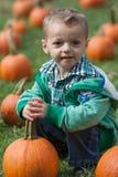 Мальчик с тыквой Стоковая Фотография