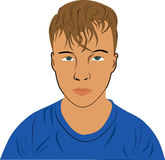 Мальчик с унылой стороной Стоковое Изображение RF