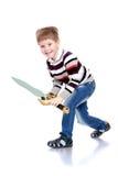 Мальчик с шпагой Стоковое фото RF