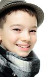 Мальчик с шлемом Стоковая Фотография