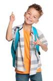 Мальчик с backpack Стоковая Фотография