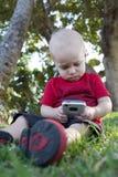 Мальчик телефона Стоковое Фото