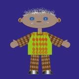 Мальчик тряпичной куклы Стоковые Изображения RF