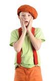 Мальчик устрашенный детенышами Стоковая Фотография RF
