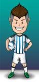 Мальчик футбола Аргентины Стоковые Изображения