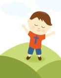 Мальчик хваля лорда Стоковое Фото