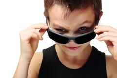 мальчик холодный Стоковая Фотография