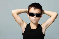мальчик холодный Стоковые Изображения RF