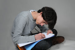 Мальчик чертежа Стоковое Фото