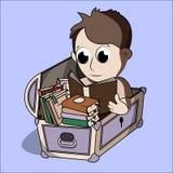 Мальчик чтения бесплатная иллюстрация