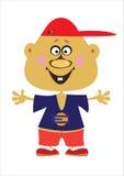 мальчик шаржа на белизне Стоковая Фотография RF