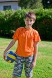 мальчик шарика немногая Стоковое фото RF