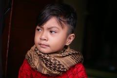 Мальчик шарфа Стоковые Фото