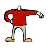 мальчик шуточного шаржа мужской делая жест (carto смешивания и спички шуточное Стоковая Фотография RF