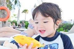 мальчик любовника банана Стоковое Изображение RF