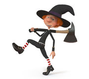 мальчик 3D нося хеллоуин Стоковая Фотография