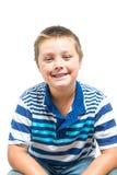 Мальчик Preteen делая выражения лица Стоковое Фото