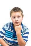 Мальчик Preteen делая выражения лица Стоковое Изображение