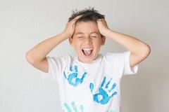 мальчик screaming Стоковое фото RF