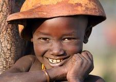 Мальчик Suri с калебасом Стоковые Изображения