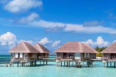 Мальдивские бунгала воды Стоковые Изображения RF