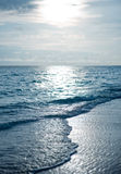 Мальдивский заход солнца на пляже Стоковые Фото