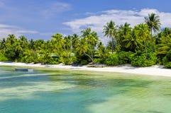 Мальдивы - солнечная тропическая лагуна Стоковая Фотография RF