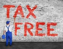 Маляр красит надпись налога свободную Стоковые Фотографии RF