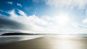 Мглистое после полудня на пляже Стоковые Изображения
