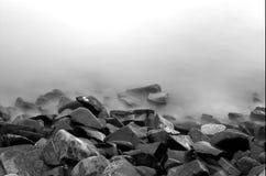мглистые камни Стоковые Фото