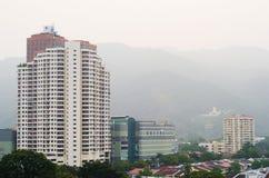 Мглистый взгляд городка Стоковое Изображение RF