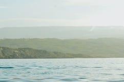 Мглистый голубой океан Стоковое Изображение RF
