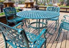 мебель внутри парка отдыха стоковое фото rf