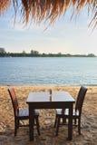 мебель пляжа Стоковое Изображение