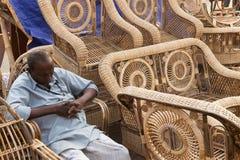 Мебели тросточки, индийские ремесленничества справедливые Стоковые Фото