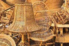 Мебели тросточки, индийские ремесленничества справедливые Стоковое Фото
