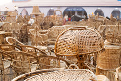 Мебели тросточки, индийские ремесленничества справедливые Стоковая Фотография RF
