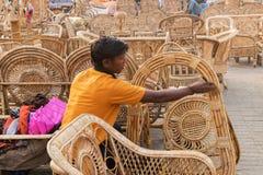 Мебели тросточки, индийские ремесленничества справедливые Стоковые Фотографии RF