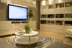 Мебельный магазин живущей комнаты Стоковые Изображения RF